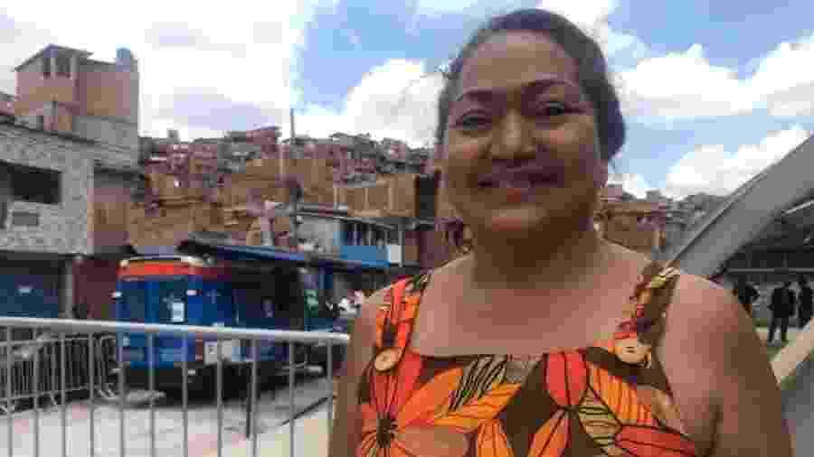 Em Paraisópolis, o G10 Favelas marcou o início do bloco formado por dez comunidades do país; na foto, Suéli Feio, uma das organizadoras do evento - Arquivo pessoal