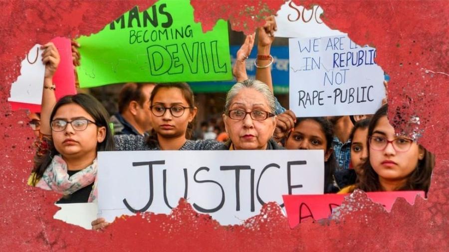 A indignação está aumentando na Índia após a suspeita de estupro e assassinato de uma mulher de 27 anos - Getty Images