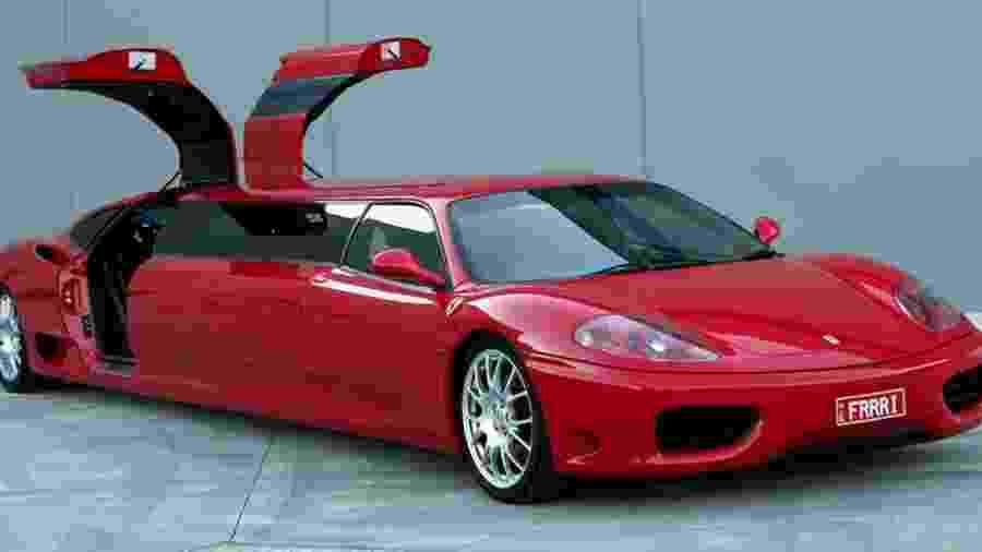 Ferrari 360 Modena convertida em limusine - Divulgação