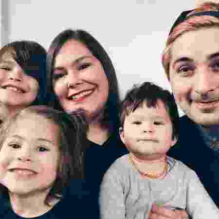 Marina, Bruno e filhos  - Arquivo pessoal - Arquivo pessoal