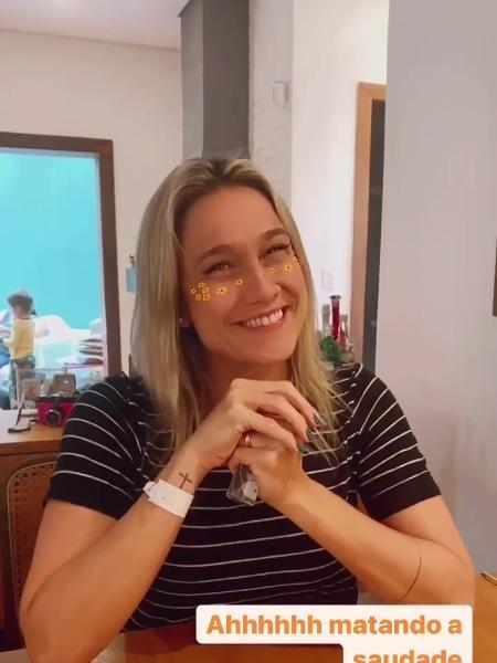 Rafa Brites gravou vídeo de Fernanda Gentil - Reprodução/Instagram @rafabrites
