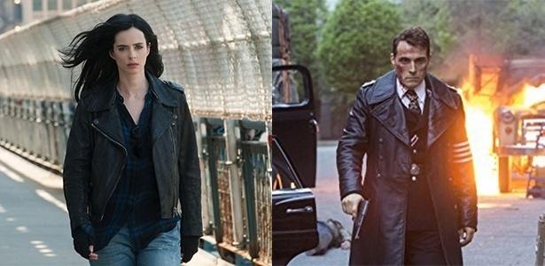 """""""Jessica Jones"""" e """"The Man in the High Castle"""" foram as séries mais vistas do Netflix e da Amazon, respectivamente, entre setembro e dezembro - Divulgação/Montagem UOL"""