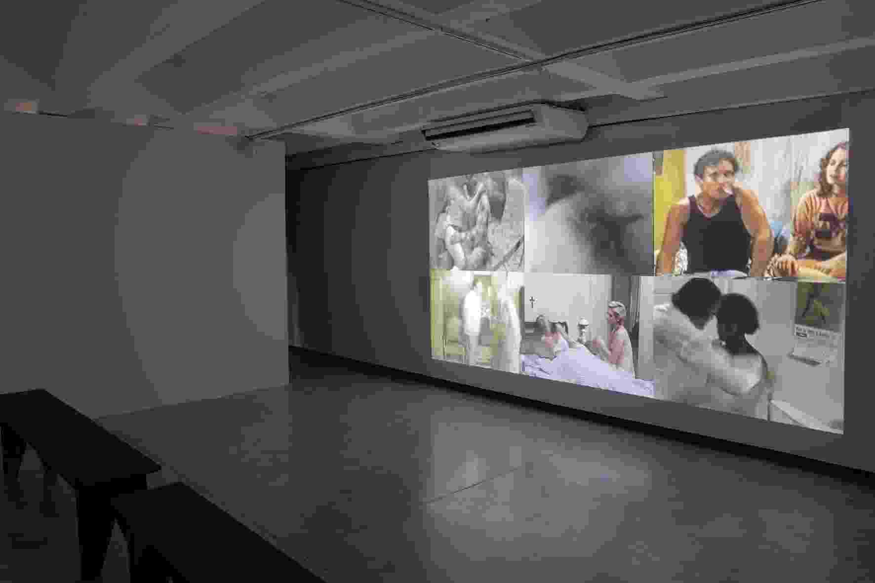 Último espaço da exposição mostra trechos cortados de filmes pela censura do governo militar - Leticia Godoy/Divulgação