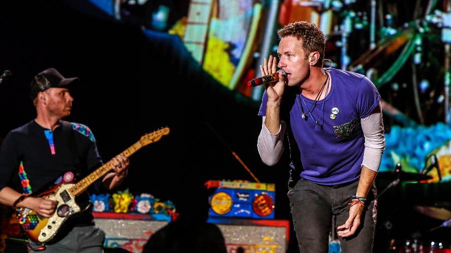 10.abr.2016 - A banda Coldplay se apresenta no Maracanã, no Rio de Janeiro - Marco Antonio Teixeira/ UOL