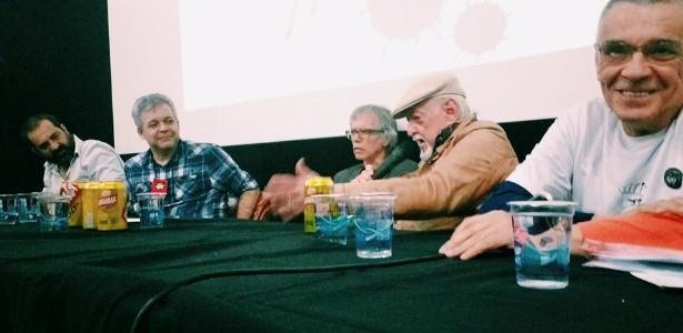 Mesa sobre o Pasquim, com Allan Sieber, Gonçalo Jr., Ricky Goodwin, Jaguar e Solda - Reprodução/facebook.com/bienaldequadrinhos/