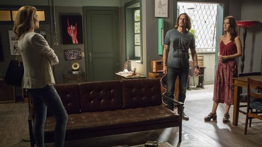 """Em """"Rock Story"""", Diana põe Gui e Júlia contra a parede após descobrir que Julia tem irmã foragida da polícia  - Reprodução/Gshow"""