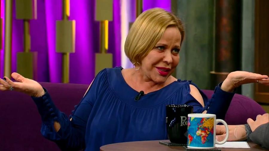 """Claudete Troiano lembra dia em que """"matou"""" Chico Anysio em entrevista no """"Programa do Porchat"""" - Reprodução/Record"""
