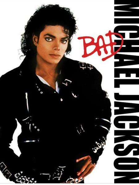 """Capa do álbum """"Bad"""", lançado por Michael Jackson em 1987 - Reprodução"""