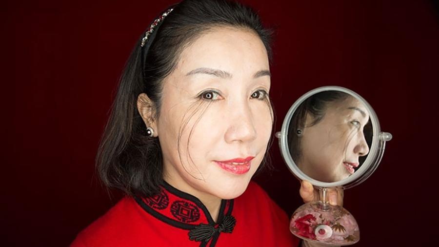 Os cílios de You Jianxia têm quase o comprimento de uma caneta - Divulgação/Guinness World Records