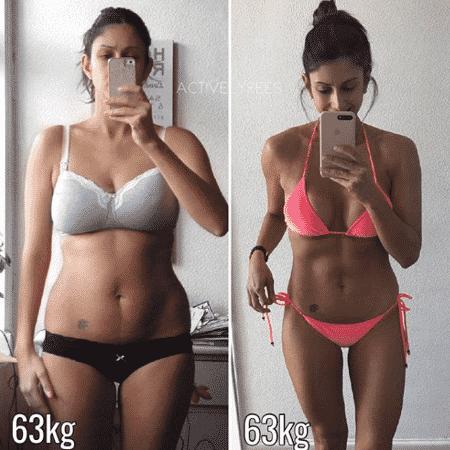 Nikki Rees mostra como o número da balança não significa boa forma - Reprodução/Instagram @activelyrees