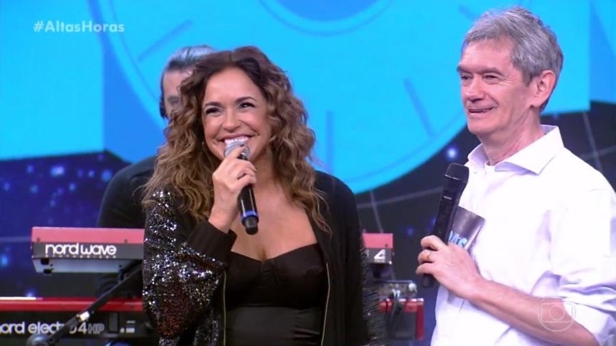 """Daniela Mercury revela desejo de ser mãe no """"Altas Horas"""" - Reprodução/TV Globo"""