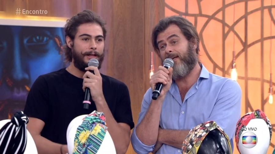"""João Vitti compareceu ao """"Encontro"""" ao lado de seu filho, Rafael Vitti - Reprodução/TV Globo"""
