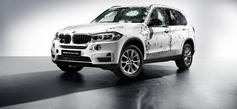 X5 Security apresentado crivado de balas pela própria BMW... para o mercado europeu, sobretudo o russo - Divulgação