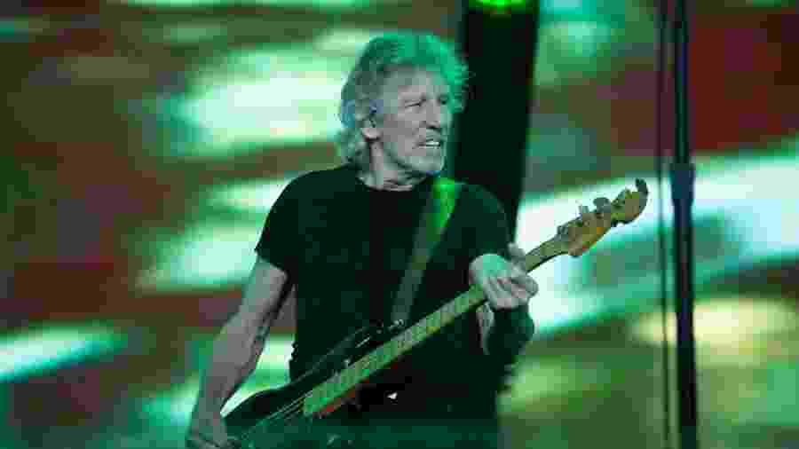 Roger Waters durante apresentação final na turnê brasileira, em Porto Alegre - Leo Caobelli/UOL