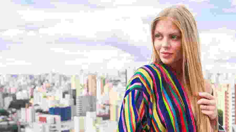 Luísa Sonza no heliponto do UOL, em São Paulo - Iwi Onodera/UOL