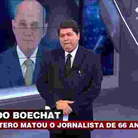 Datena chora ao noticiar a morte de Boechat - Reprodução/Band - Reprodução/Band