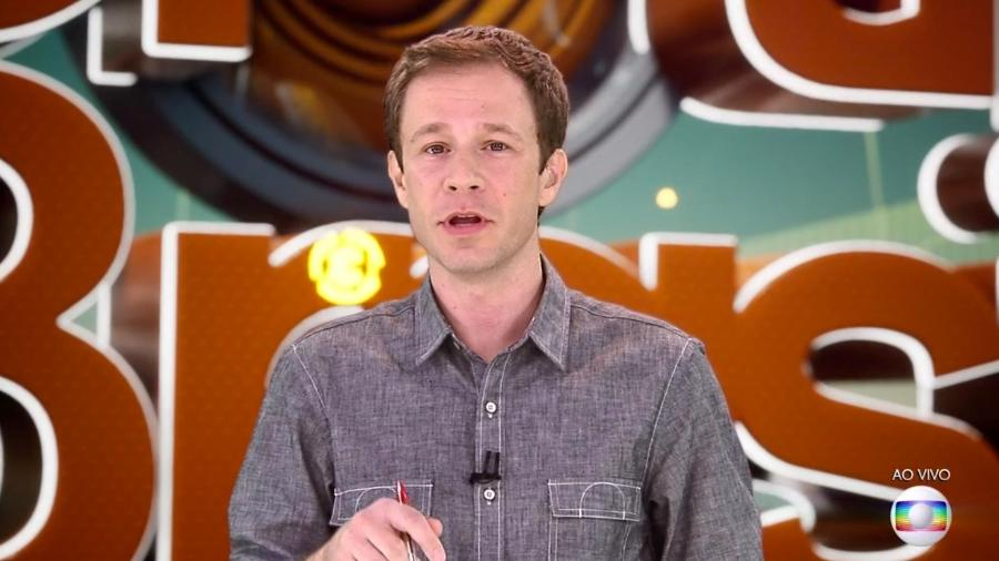 Tiago Leifert conversa com o público antes da prova do líder - Reprodução/TvGlobo