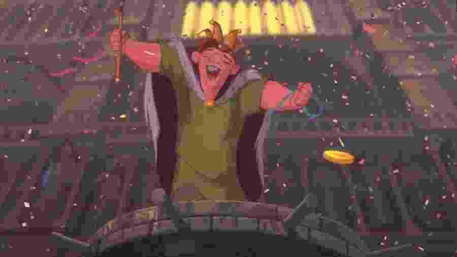 """Cena de """"O Corcunda de Notre Dame"""" (1996), da Disney - Reprodução"""
