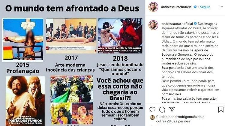 Imagem de Viviane (primeira da esq. para dir.) foi usada por Andressa Urach - Reprodução/Instagram/Andressa Urach
