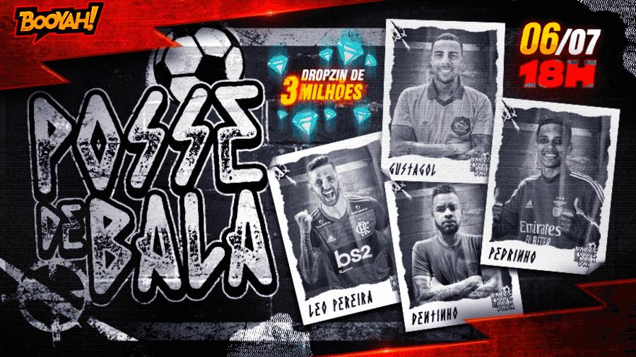 Novo evento em Free Fire terá live com jogadores de futebol conhecidos - Divulgação/BOOYAH!