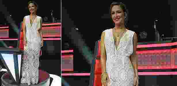 """O vestido rendado usado por Claudia Leitte, na final do """"The Voice"""", demorou quatro meses para ficar pronto - Divulgação"""