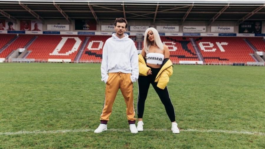 Louis Tomlinson postou foto ao lado da cantora Bebe Rexha para anunciar novo single - Reprodução/Twitter/@Louis_Tomlinson