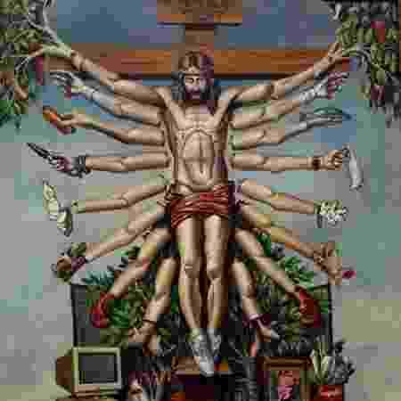 """""""Cruzando Jesus Cristo com o Deus Shiva"""", obra de Fernando Baril - Divulgação"""