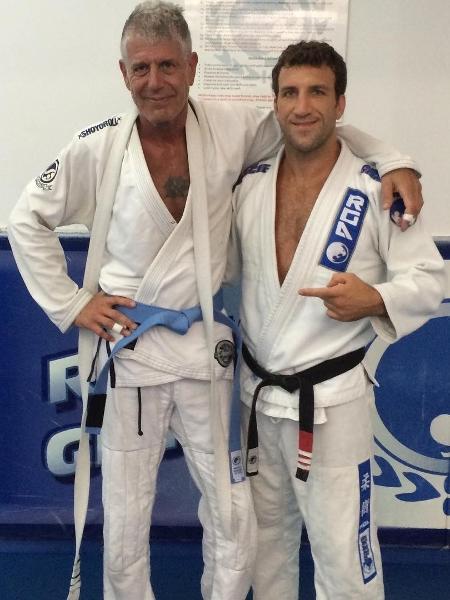 Anthony Bourdain e seu professor, Igor Gracie - Reprodução/Instagram/@anthonybourdain