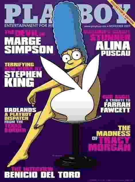Até a personage Marge Simpson já foi capa da Playboy americana, em 2009 - Divulgação