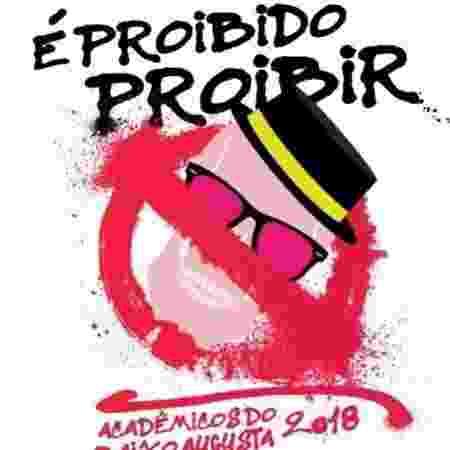 """Acadêmicos do Baixo Augusta levará para as ruas o tema """"É Proibido Proibir"""" - Divulgação"""