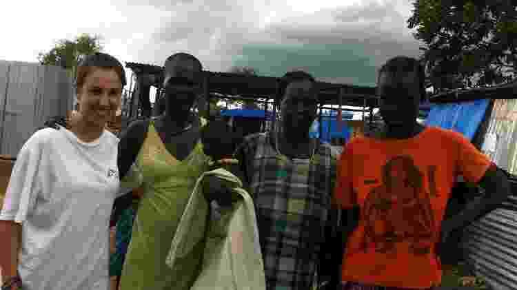 No campo de refugiados na Etiópia - Acervo Pessoal
