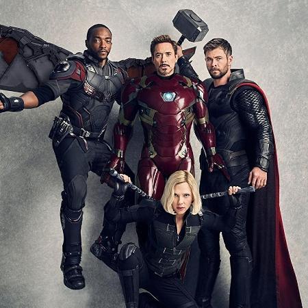 """Personagens de """"Vingadores: Guerra Infinita"""" (2018) reunidos em foto promocional - Divulgação"""