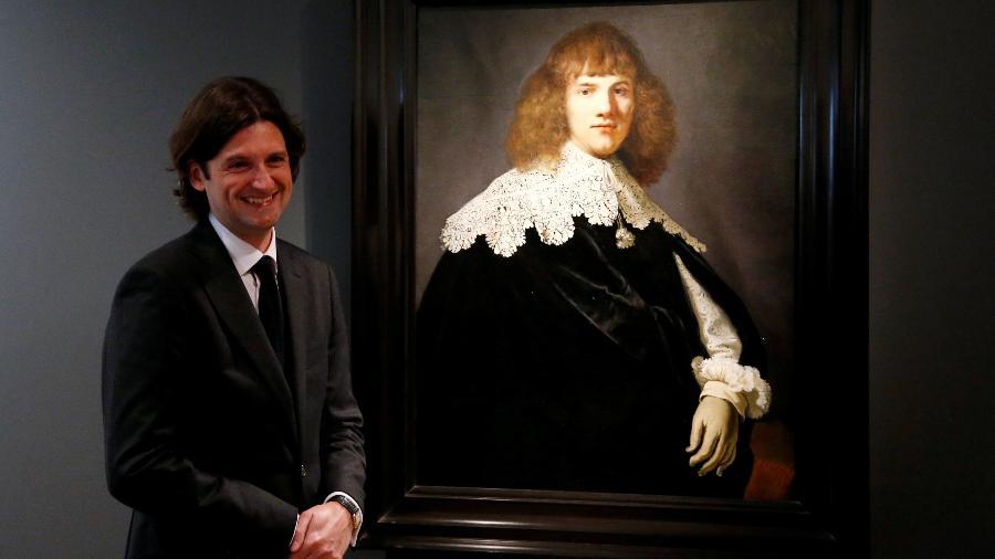 """O """"novo"""" quadro de Rembrandt batizado de """"Portrait of a Young Man"""" - Francois Lenoir/Reuters"""