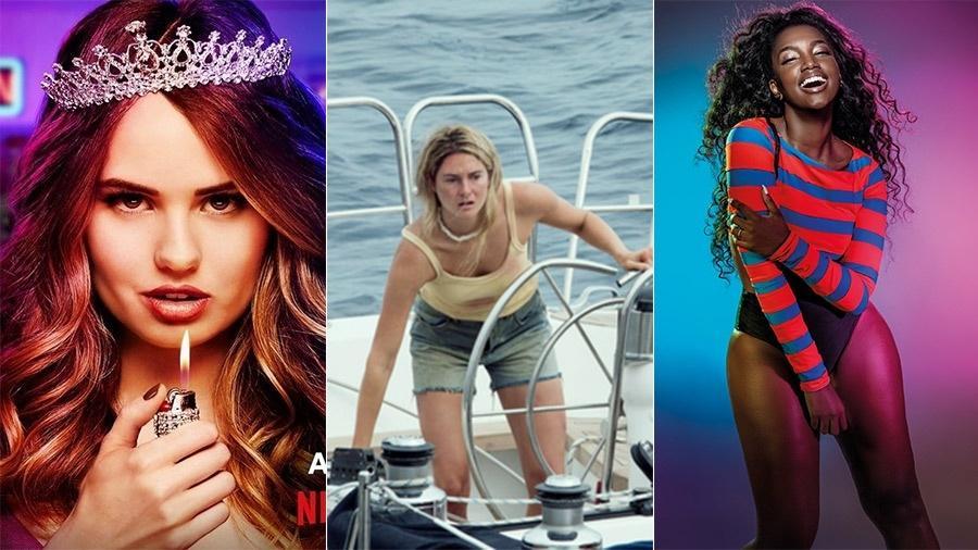 """A série """"Insatiable"""", o filme """"Vidas à Deriva"""" e a cantora IZA, que se apresenta no final de semana em São Paulo - Reprodução"""