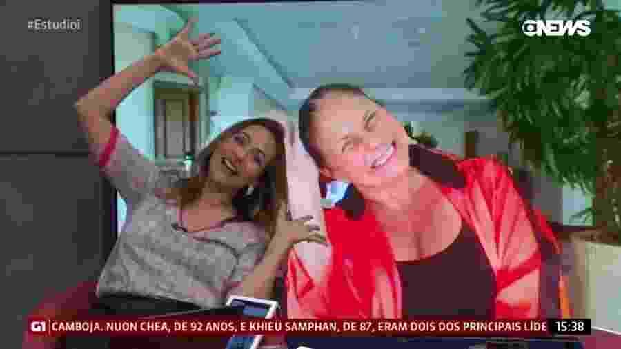 """Maria Beltrão e Fafá de Belém fazem """"duelo de gargalhadas"""" na GloboNews - Reprodução/GloboNews"""