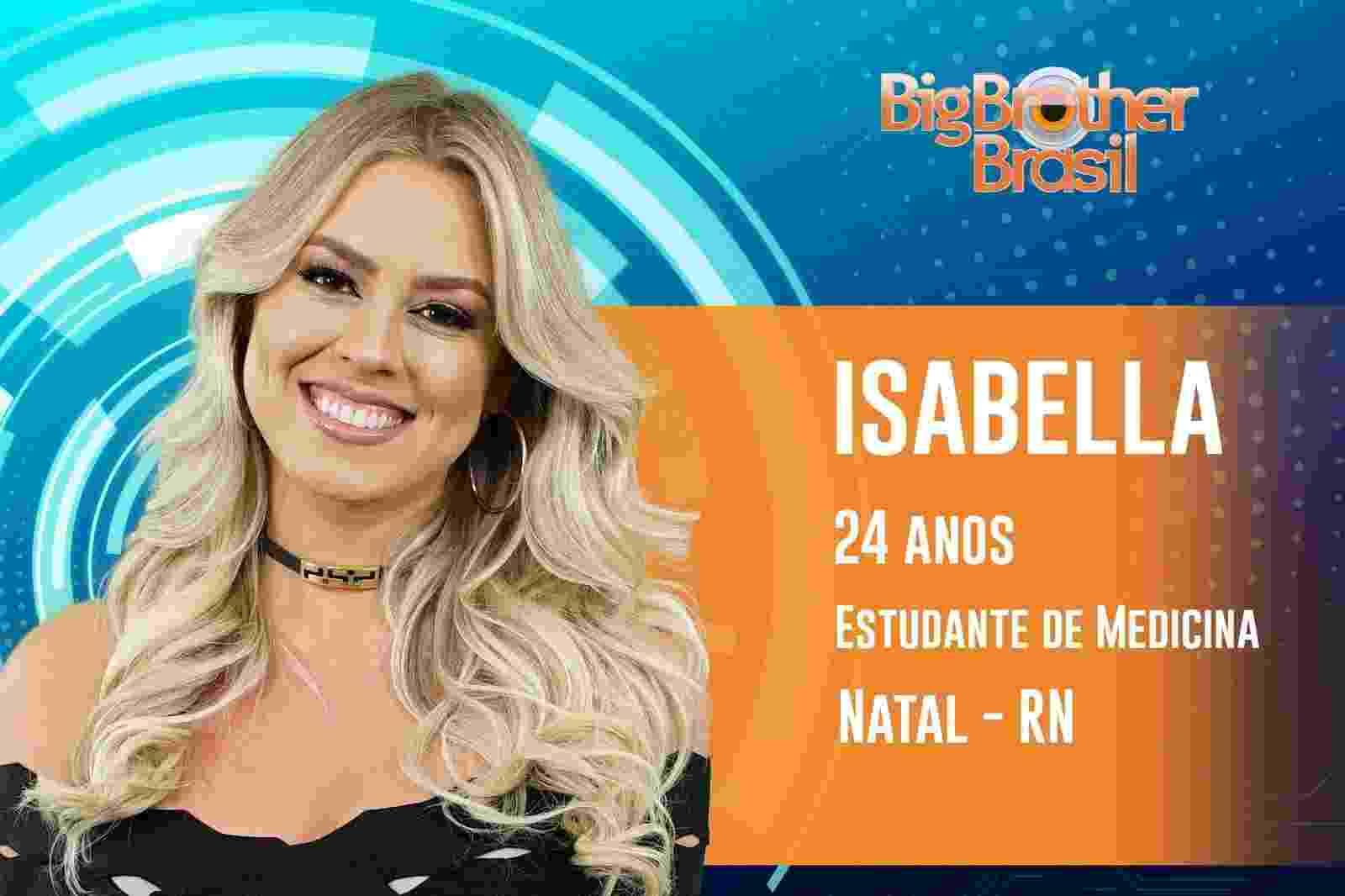 Isabella é a décima primeira participante do ?BBB19? - Reprodução/TvGlobo
