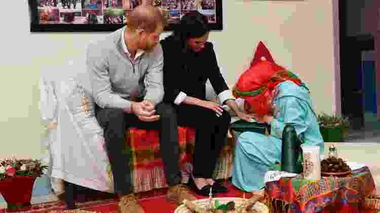 O príncipe Harry acompanhou a duquesa enquanto ela fazia a tatuagem - Pool/Getty Images - Pool/Getty Images