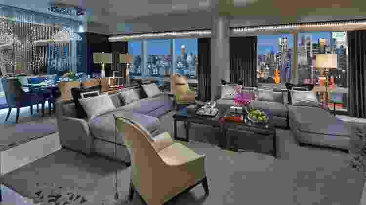 Suite 5000 no hotel Mandarin Oriental, New York - Divulgação/Mandarin Oriental New York - Divulgação/Mandarin Oriental New York