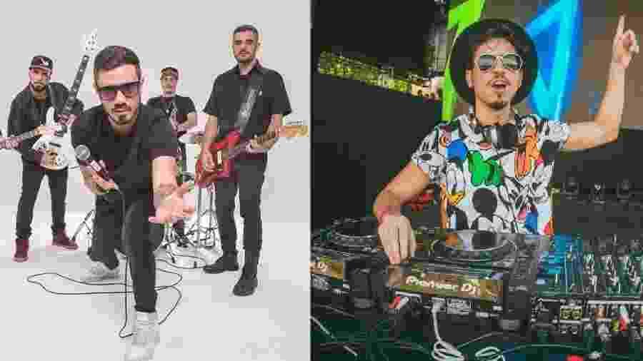 Planta e Raiz e o DJ e produtor Danne - Divulgação