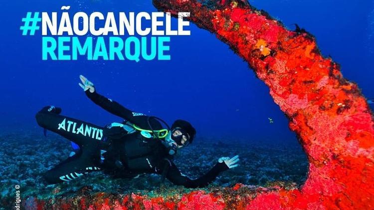 Divulgação da campanha #naocanceleremarque, que visa reduzir os prejuízos do turismo com o coronavírus - Divulgação