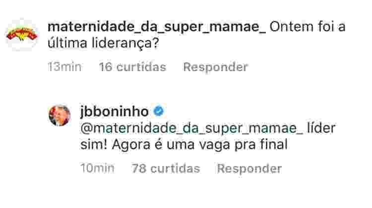 Boninho responde internautas sobre a reta final do BBB 20 - Reprodução/Instagram - Reprodução/Instagram