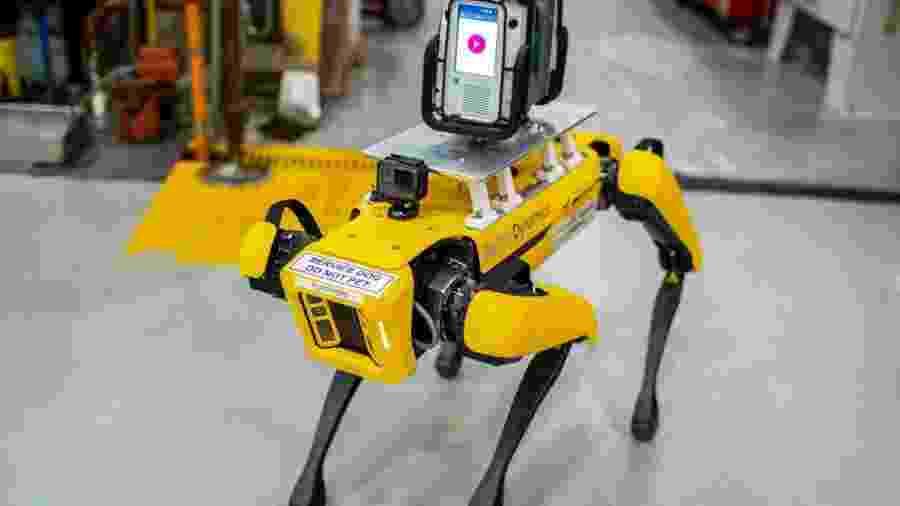 Cachorro-robô usado pela Ford em fábrica - Divulgação