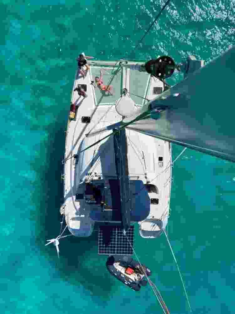 Vista do topo do veleiro - Patricia Schussel Gomes - Patricia Schussel Gomes