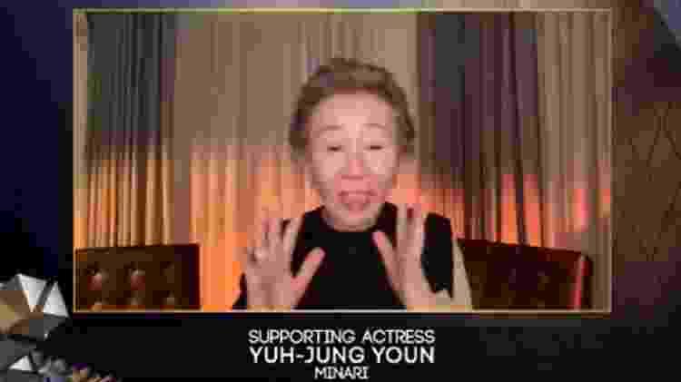Youn Yuh-Jung venceu o BAFTA de Melhor Atriz Coadjuvante - Reprodução/BAFTA/Twitter - Reprodução/BAFTA/Twitter