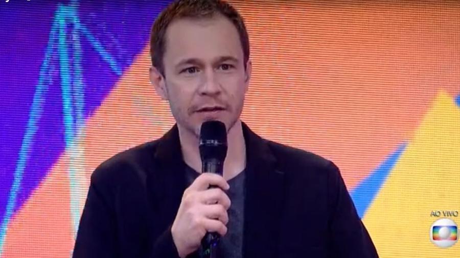 BBB 21: Tiago Leifert durante a grande final - Reprodução/ Globoplay