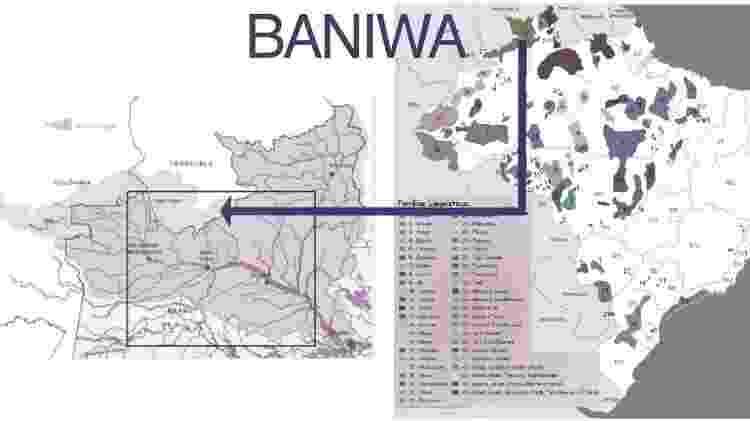 Mapa - Associação Indígena da Bacia do Içana - Associação Indígena da Bacia do Içana