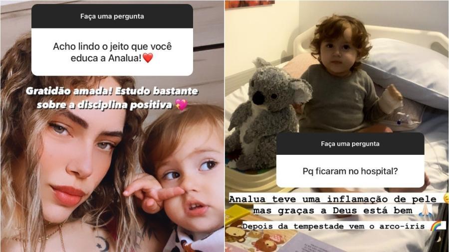 Bruna Bordini e a filha, Ana Lua - Reprodução/Instagram