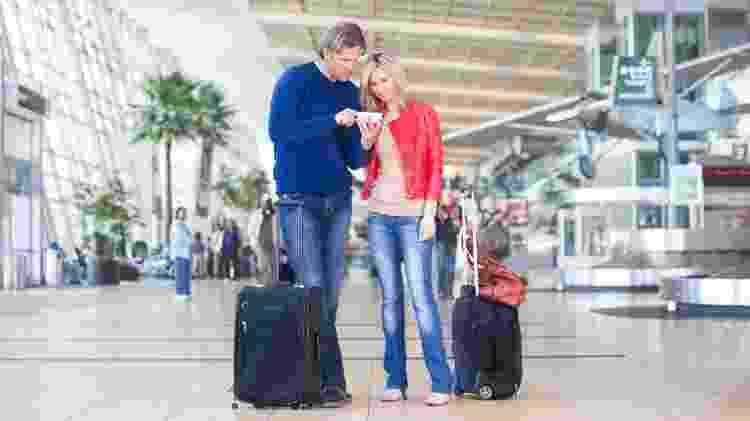 Criado inicialmente para negócios, passou a ser conhecido como ?Tinder do céu? por usuários que buscam encontros amorosos no avião e aeroportos - Getty Images - Getty Images