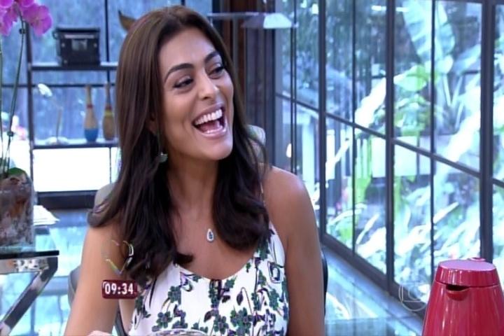 Juliana Paes se derrete pelos filhos em conversa com Ana Maria Braga no