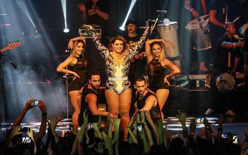23.jan.2015 - Preta Gil animou o público de São Paulo com sucesso do Bloco da Preta